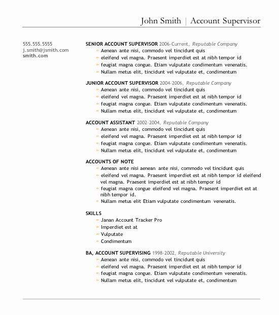 Best Ms Word Resume Templates Beautiful 7 Free Resume Templates