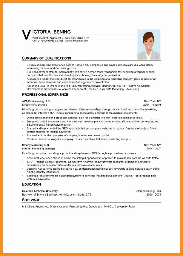 Best Ms Word Resume Templates Elegant 8 Curriculum Vitae Templates Word
