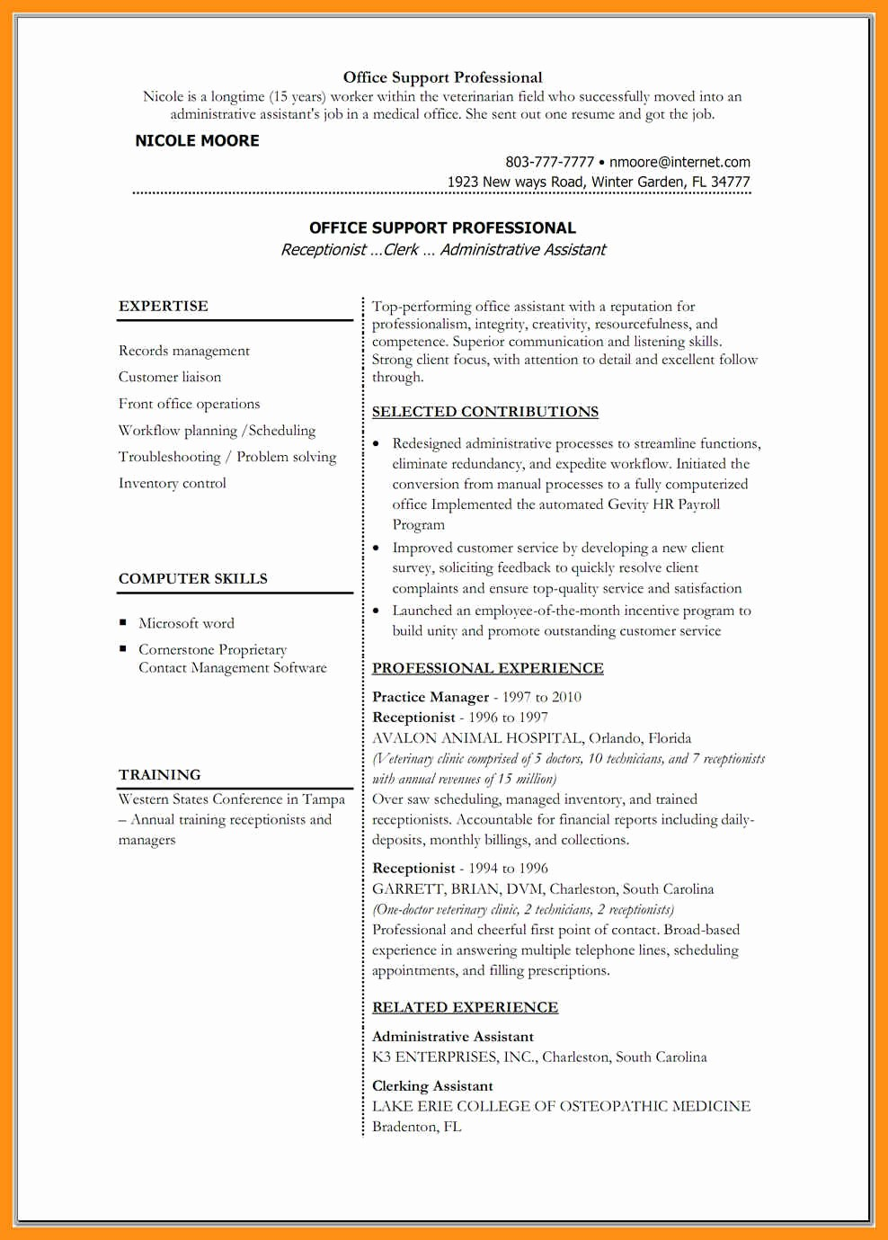 Best Ms Word Resume Templates Elegant Good Resume Templates for Word