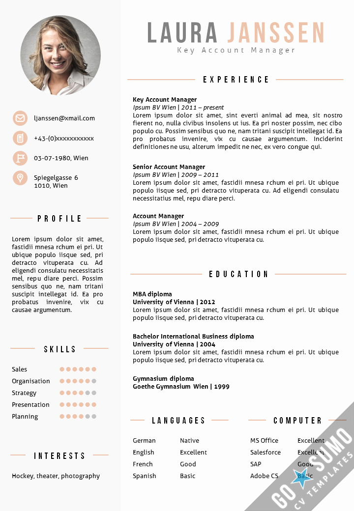 Best Ms Word Resume Templates Fresh Cv Template Vienna Go Sumo Cv Template