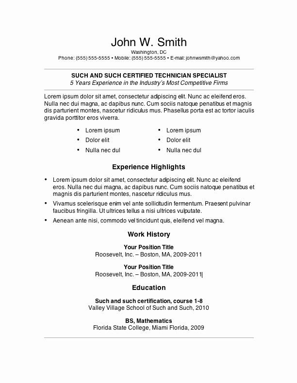 Best Ms Word Resume Templates Luxury 7 Free Resume Templates