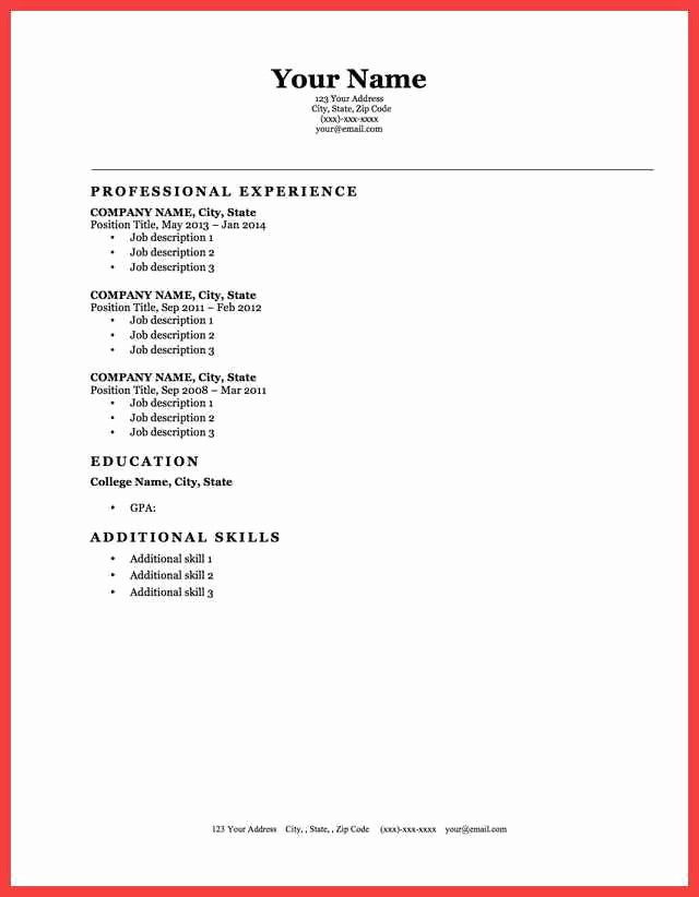 Best Ms Word Resume Templates Best Of Cool Looking Resume Modern