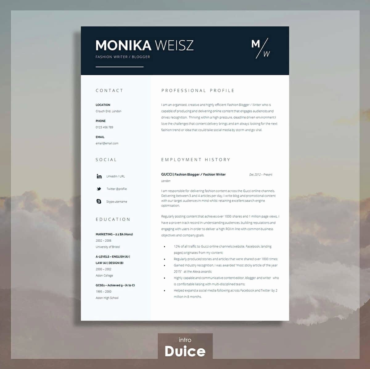 Best Ms Word Resume Templates Unique Best Resume Templates 15 Examples to Download & Use Right