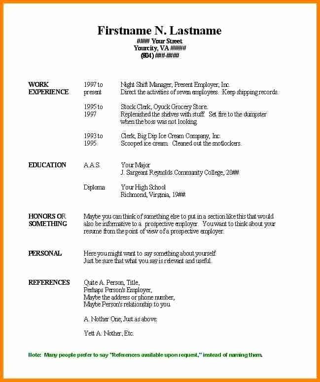 Best Resume Template Microsoft Word Beautiful Free Printable Resume Templates Microsoft Word