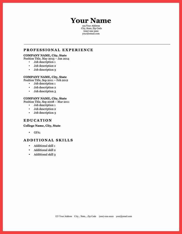 Best Resume Template Microsoft Word Fresh Cv Template Microsoft Word