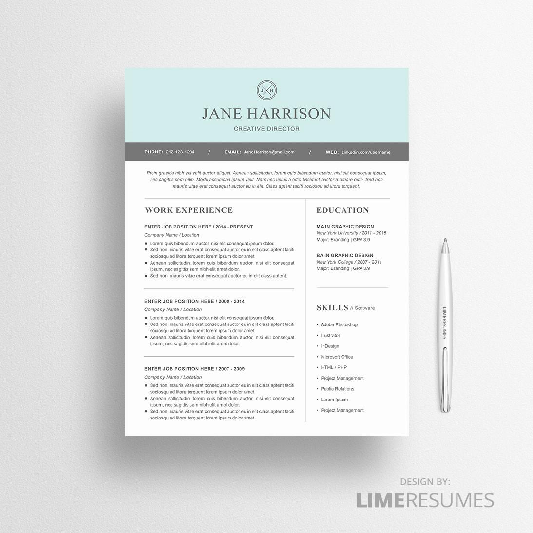 Best Resume Template Microsoft Word Fresh Modern Resume Template for Microsoft Word Limeresumes