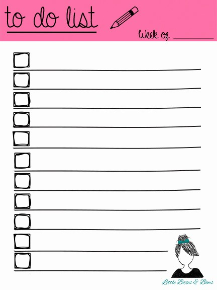 Best to Do List format Beautiful 6 Best Of to Do List Printable Free