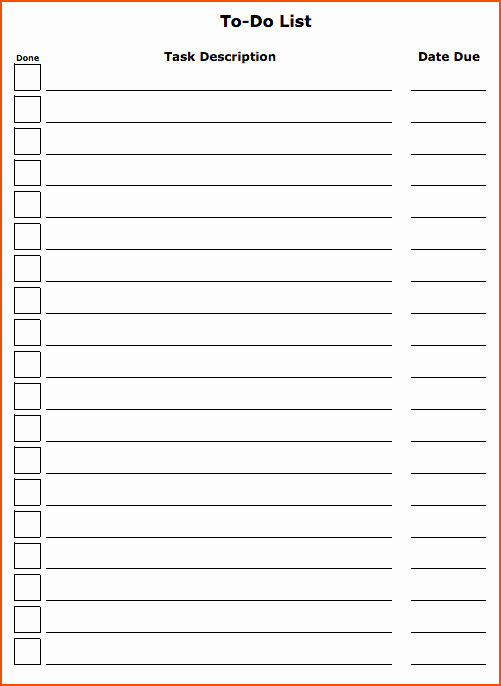 4 to do list template