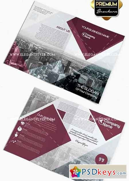 Bi-fold Brochure Template Awesome Business V2 Premium Bi Fold Psd Brochure Template Free