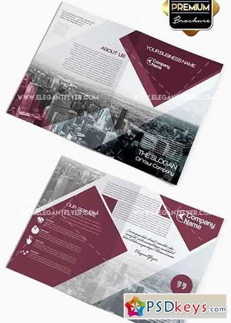 Bi-fold Brochure Template Awesome Business V2 Premium Bi Fold Psd Brochure Template Free