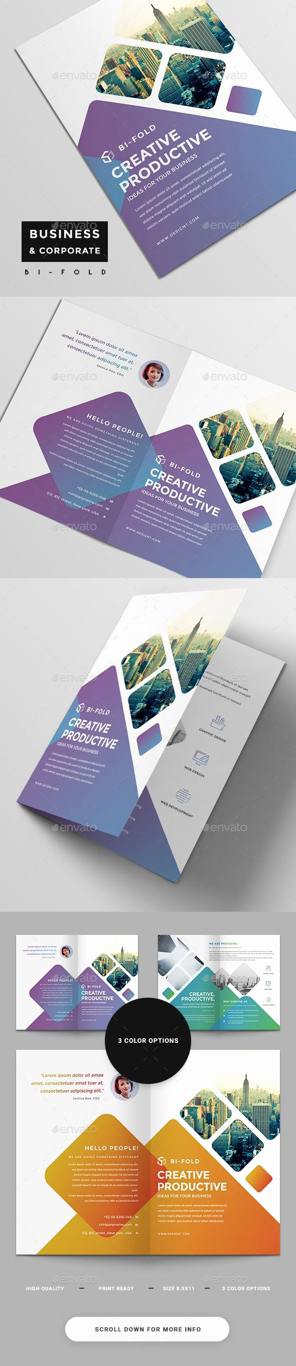 Bi-fold Brochure Template Beautiful 25 Best Ideas About Bi Fold Brochure On Pinterest