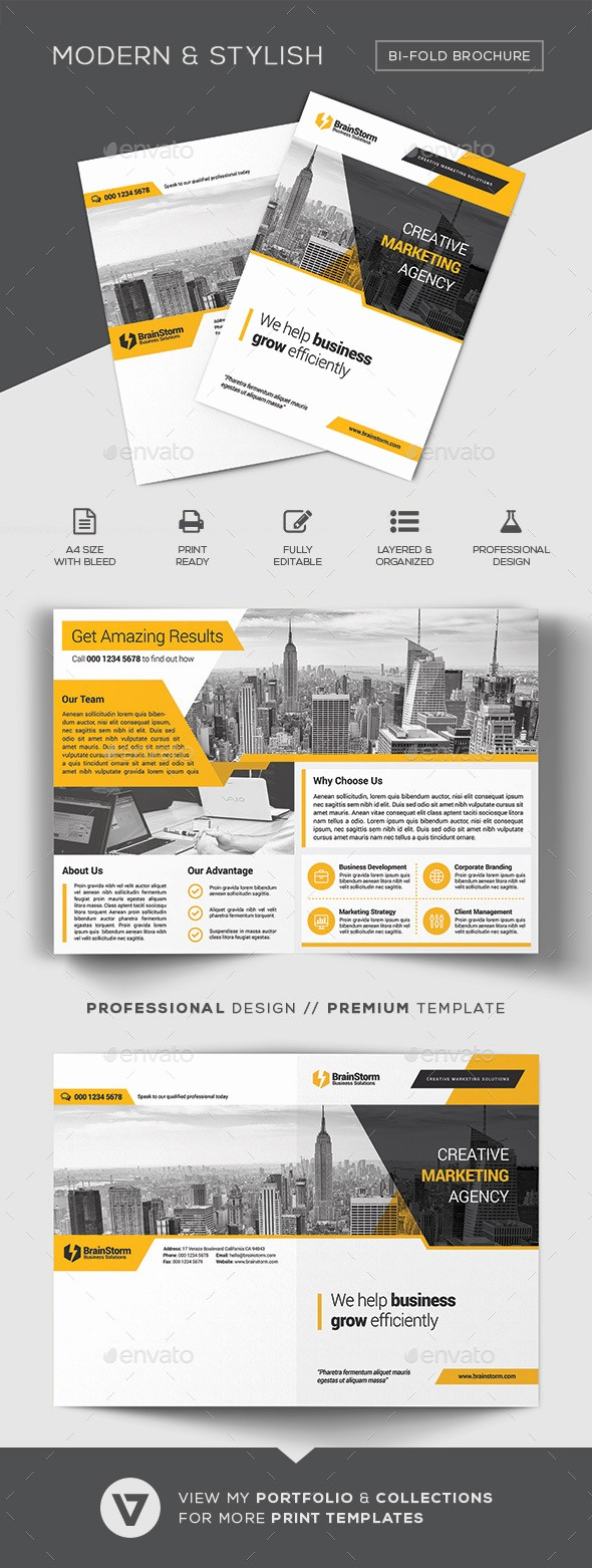 Bi-fold Brochure Template Best Of Bi Fold Brochure Template by Verazo