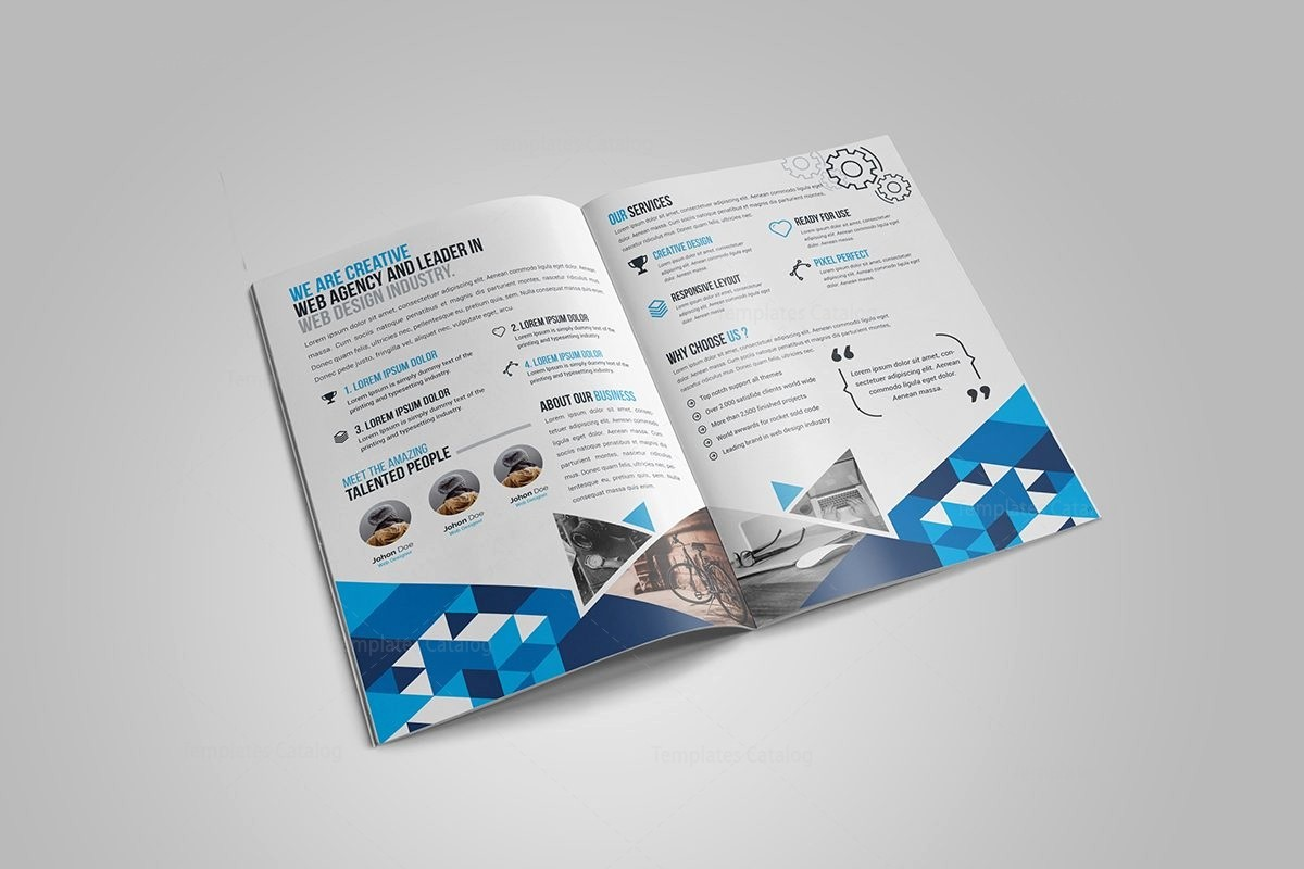 Bi-fold Brochure Template Elegant Gem Corporate Bi Fold Brochure Template Template