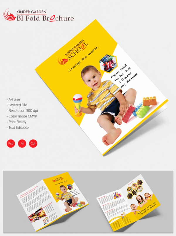 Bi-fold Brochure Template Elegant School Brochure 22 Download In Psd Vector Pdf