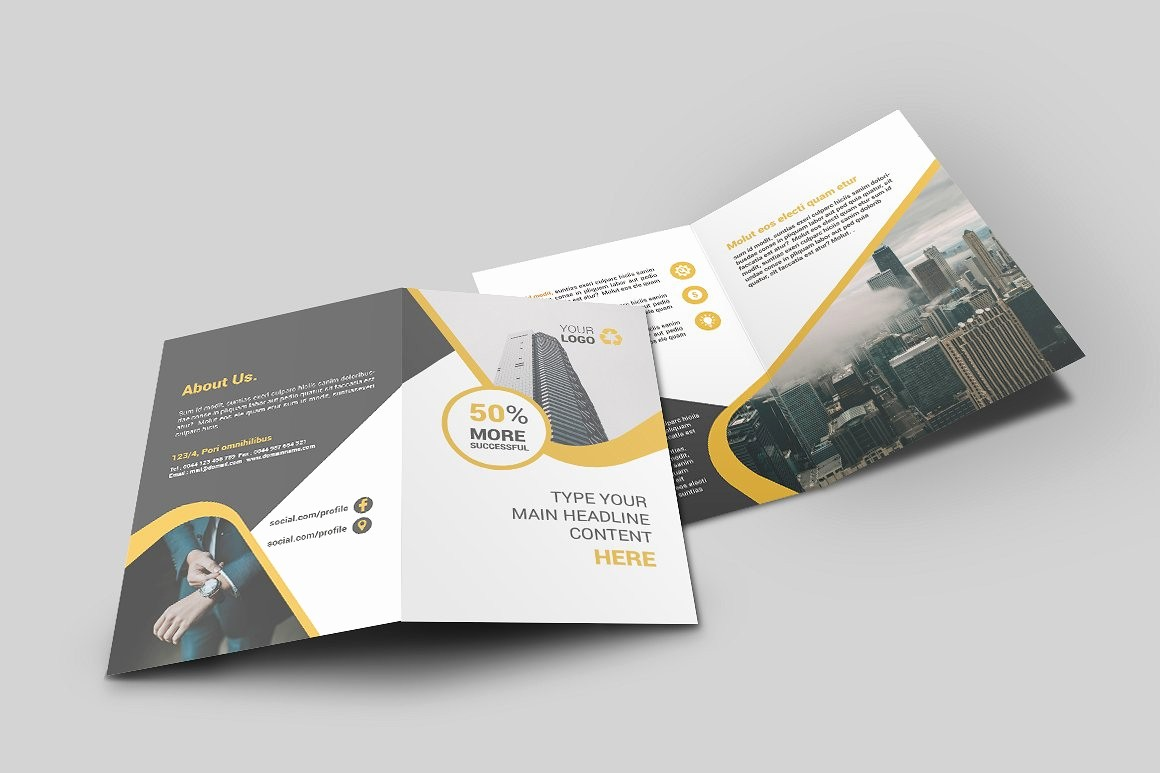 Bi-fold Brochure Template Fresh Business Bi Fold Brochure Brochure Templates Creative
