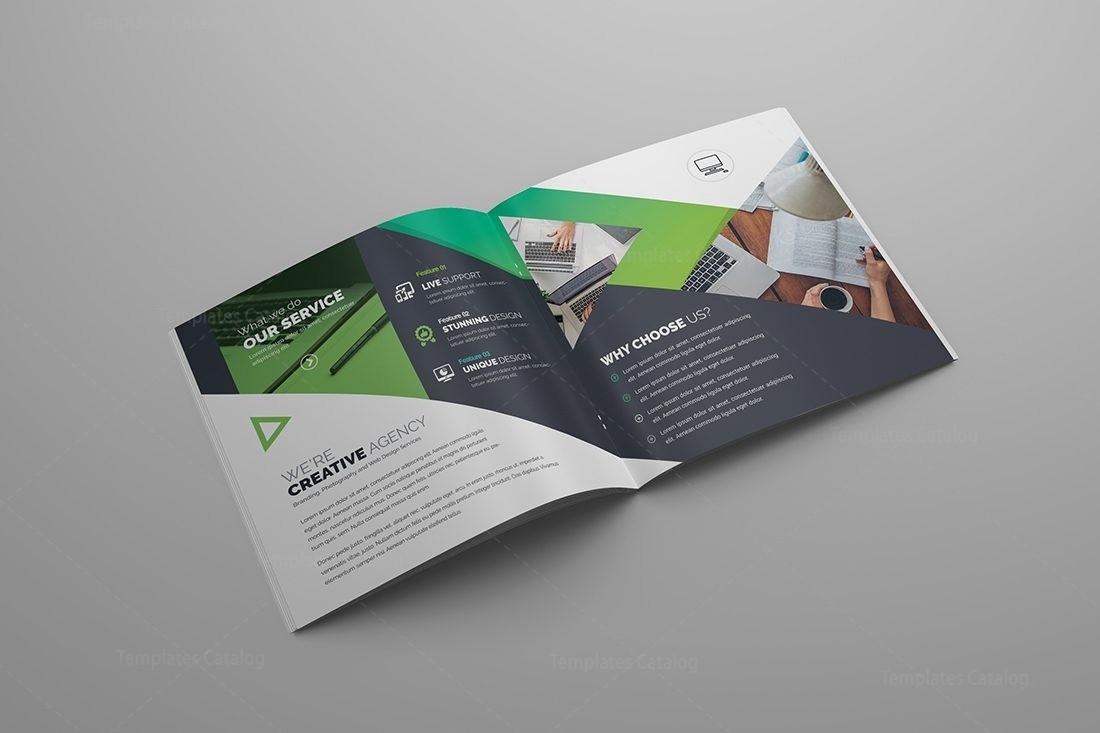 Bi-fold Brochure Template Inspirational Gemini Premium Square Bi Fold Brochure Template