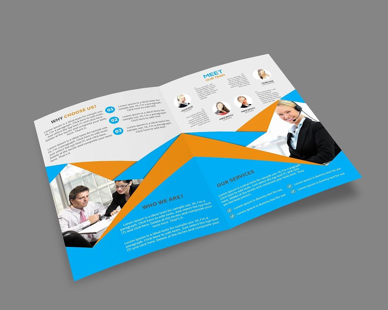 Bi-fold Brochure Template Luxury Bi Fold Brochure Template Brochure Templates Creative