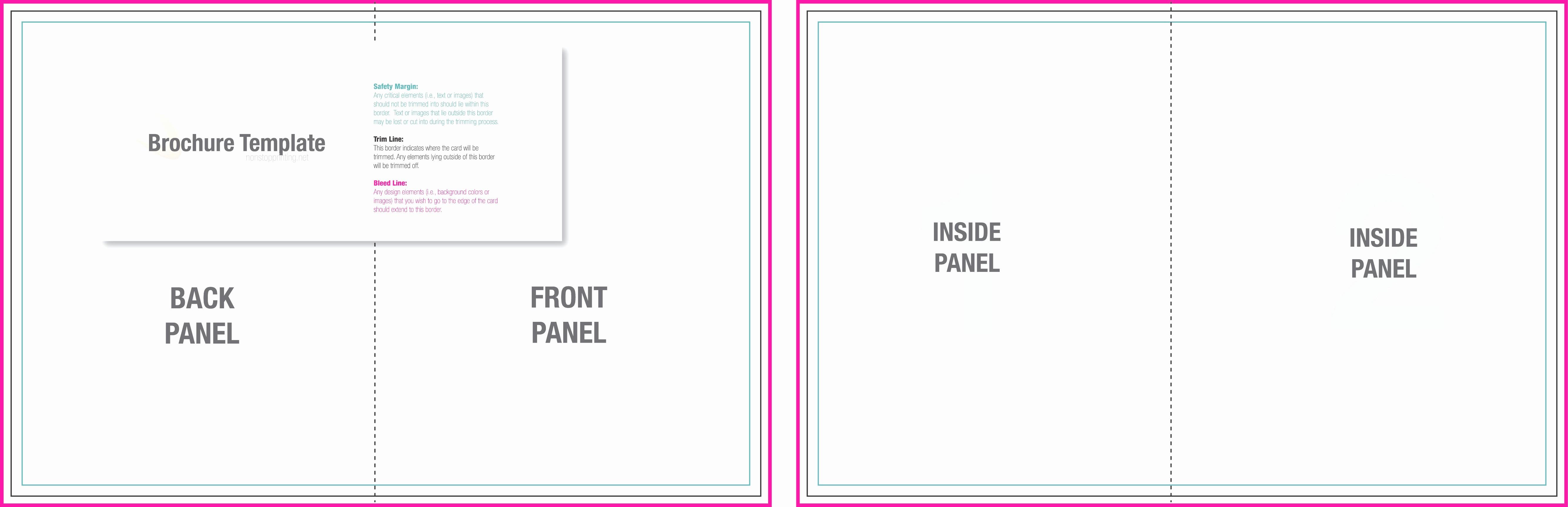 Bi-fold Brochure Template Luxury Bi Fold Brochure Template Word Mughals