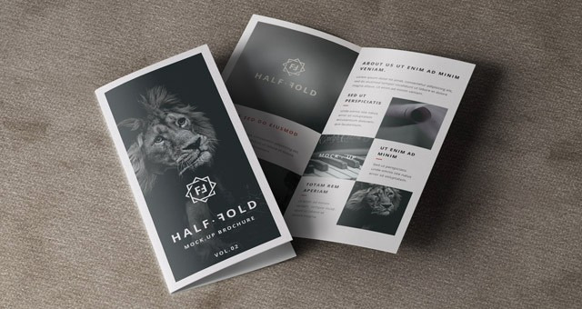 Bi-fold Brochure Template Unique Psd Bi Fold Mockup Template Vol2