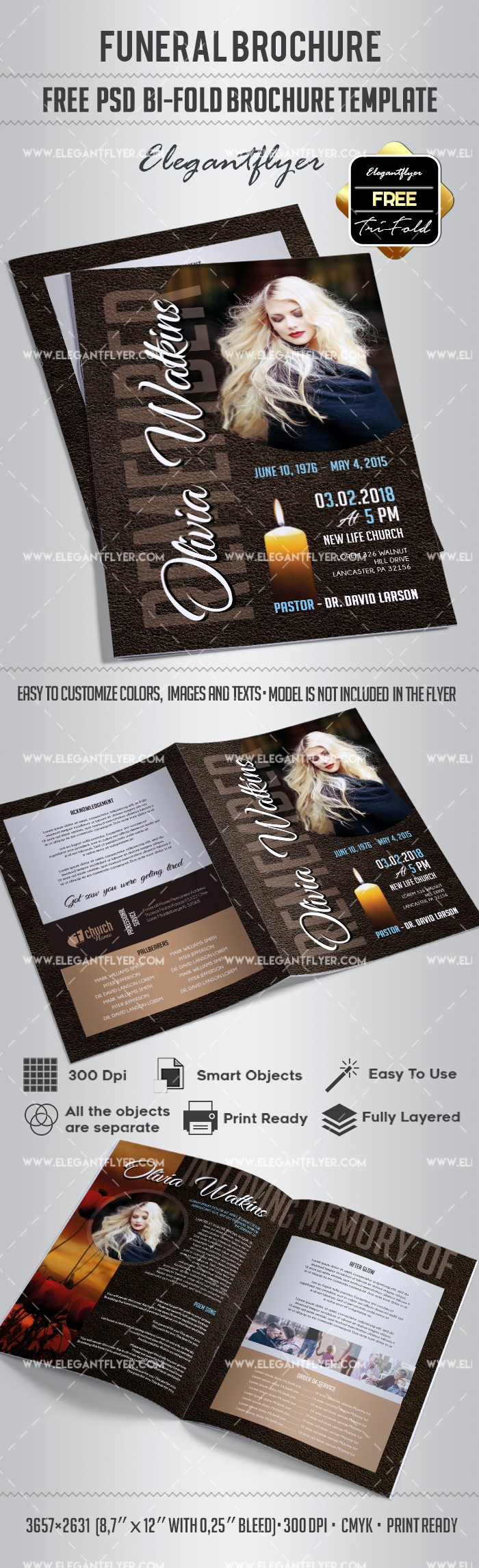 Bi Fold Brochure Templates Free Beautiful Free Bi Fold Brochure for Funeral – by Elegantflyer