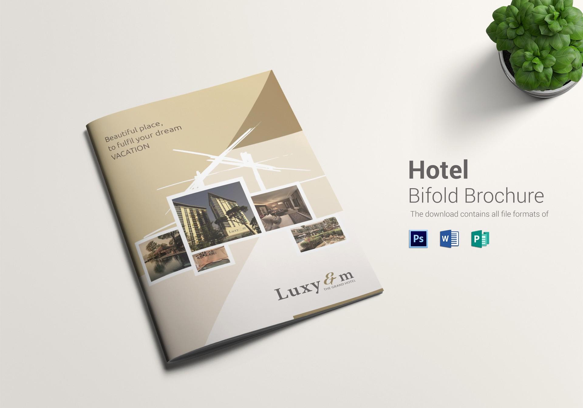 Bi Fold Brochure Templates Free Beautiful Hotel Bi Fold Brochure Design Template In Word Psd Publisher