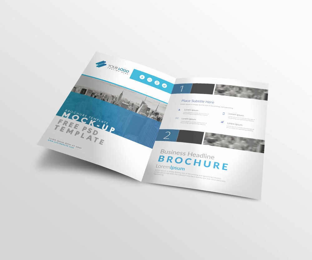 Bi Fold Brochure Templates Free Best Of Bi Fold A4 Brochure Mock Up Psd Template