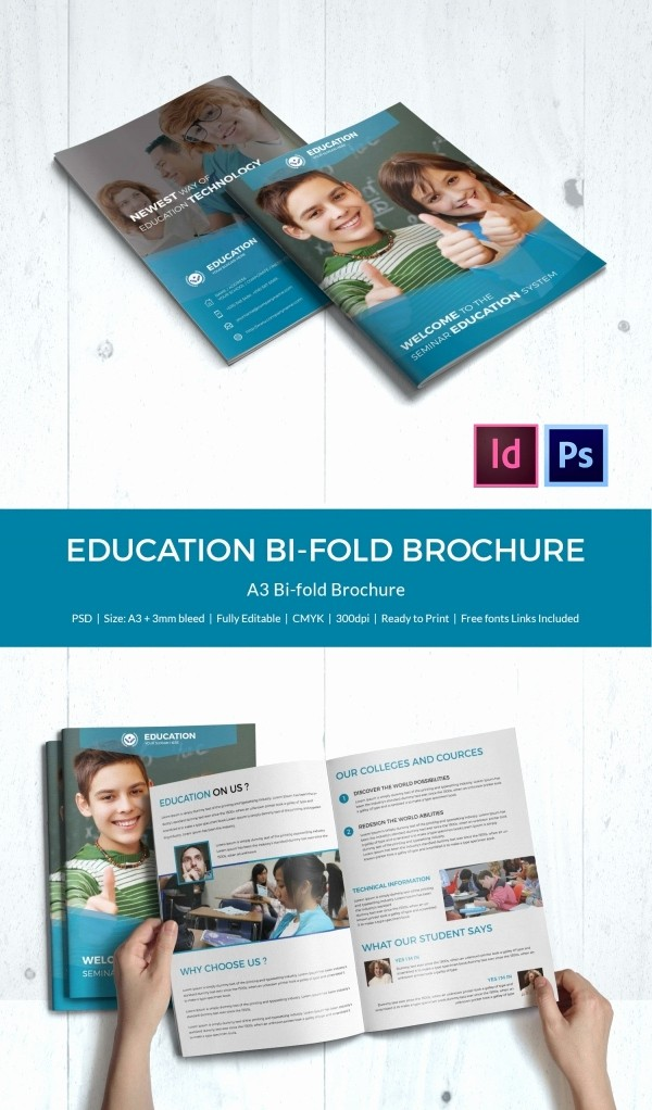 Bi Fold Brochure Templates Free Elegant Education Brochure Template 43 Free Psd Eps Indesign