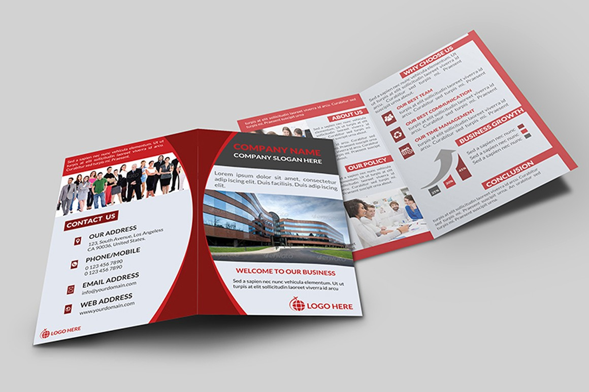 Bi Fold Brochure Templates Free Fresh Corporate Bi Fold Brochure V 1 Brochure Templates On
