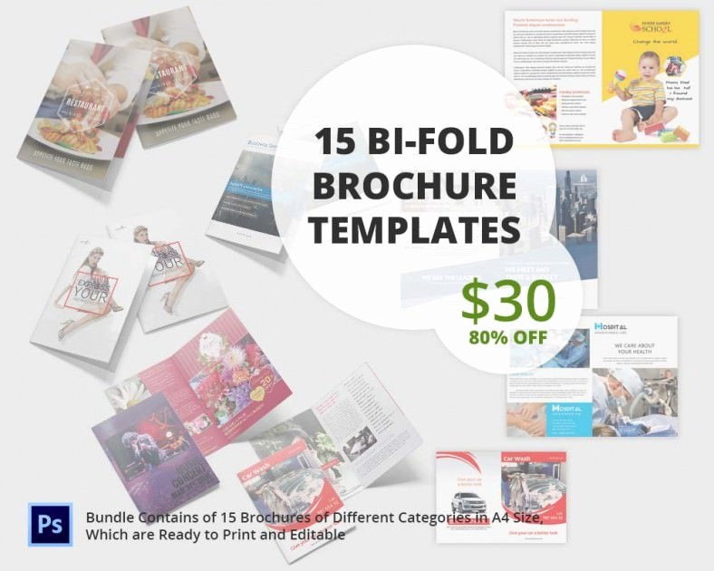 Bi Fold Brochure Templates Free Luxury Printable Bi Fold Brochure Template – 67 Free Word Psd