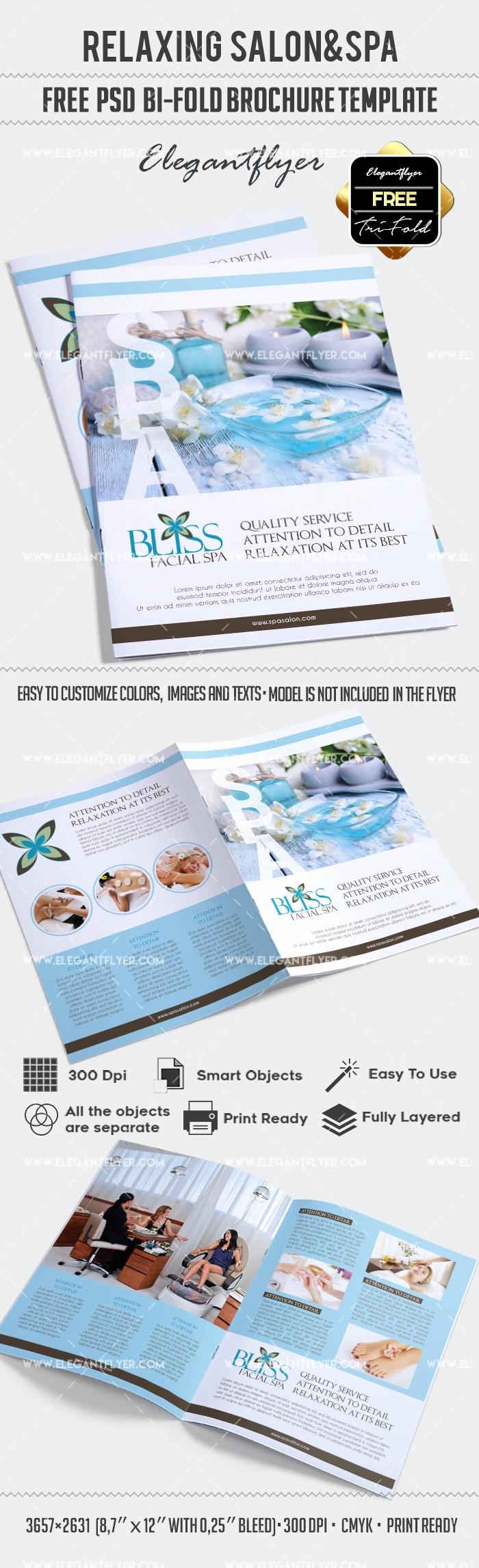 Bi Fold Brochure Templates Free New Free Relaxing Salon for Bi Fold Psd Brochure – by Elegantflyer