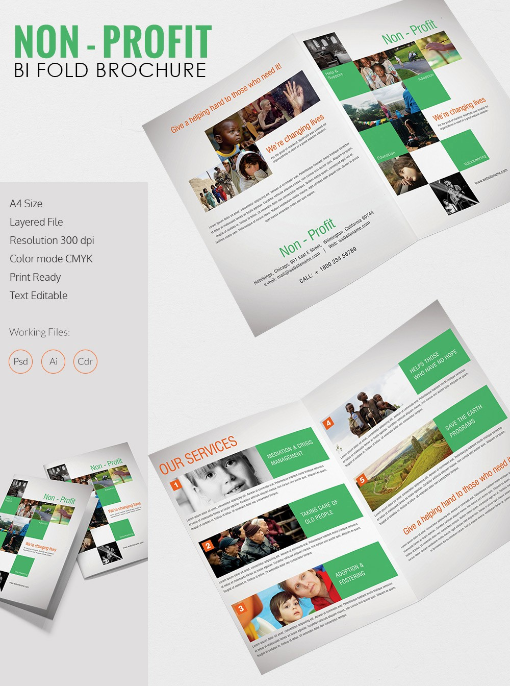 Bi Fold Brochure Templates Free New Printable Bi Fold Brochure Template – 67 Free Word Psd