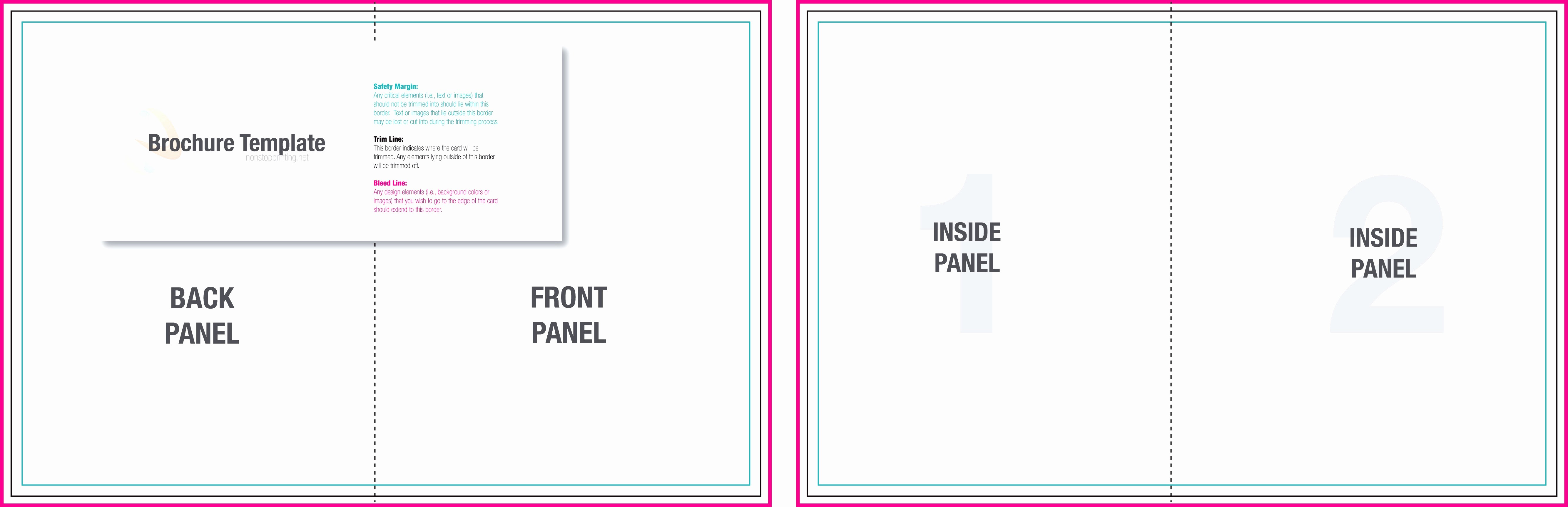 Bi Fold Brochure Templates Free Unique Blank Tri Fold Brochure Template Example Mughals