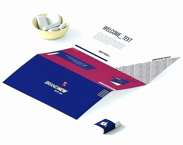 Bi-fold Card Template Awesome Bi Fold Business Card Template Folded Mini Square