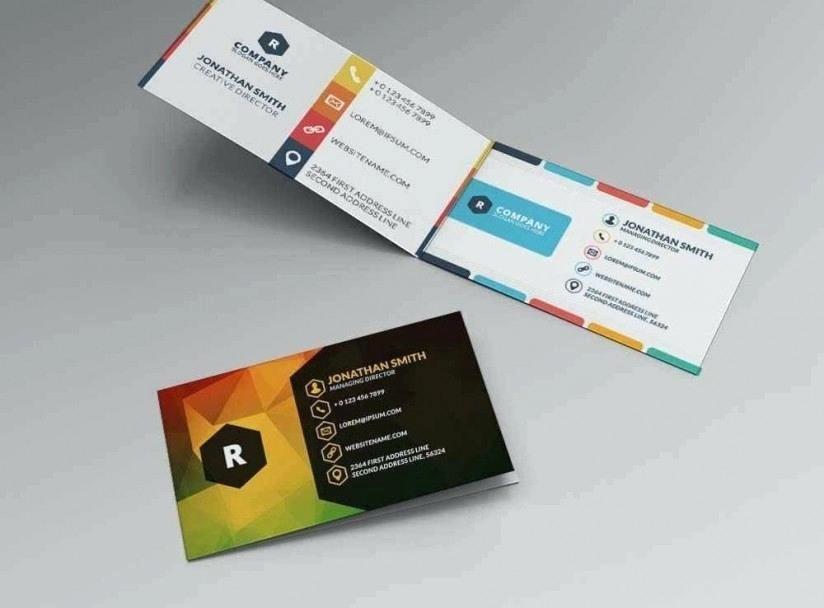 Bi-fold Card Template Awesome Bi Fold Business Card Template