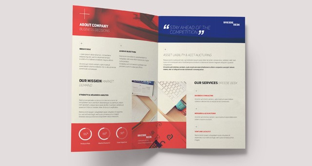 Bi-fold Card Template Awesome Breede Bi Fold Brochure Template