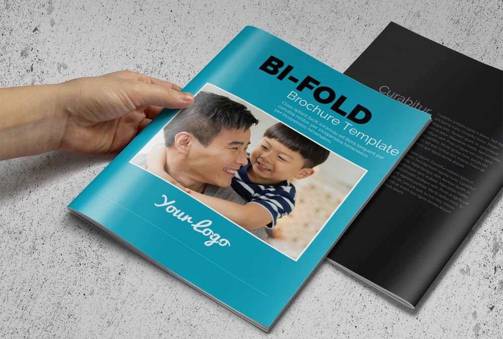 Bi-fold Card Template Beautiful Bi Fold Business Brochure Brochure Templates On Creative