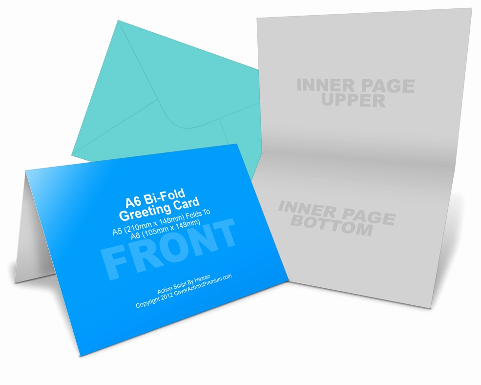 Bi-fold Card Template Best Of A6 Greeting Card Mockup Cover Actions Premium