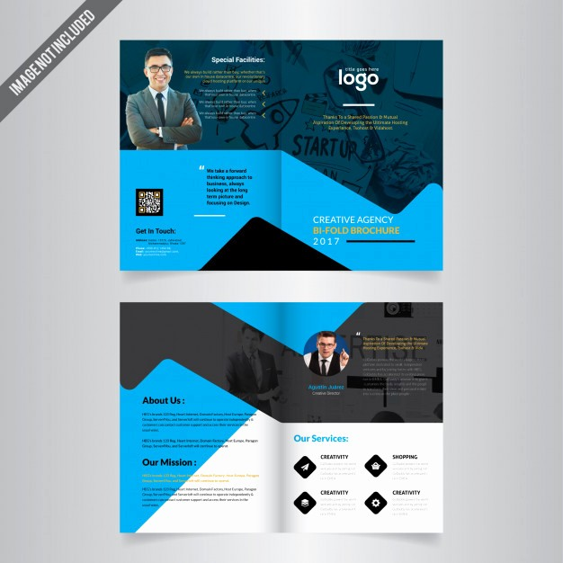 Bi-fold Card Template Best Of Bi Fold Brochure Template Vector