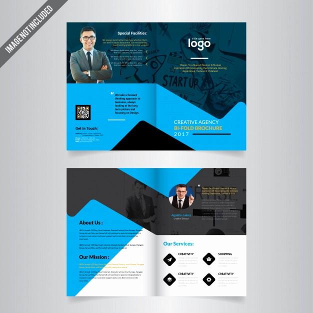 Bi-fold Card Template Best Of Bi Fold Brochure Template Vector
