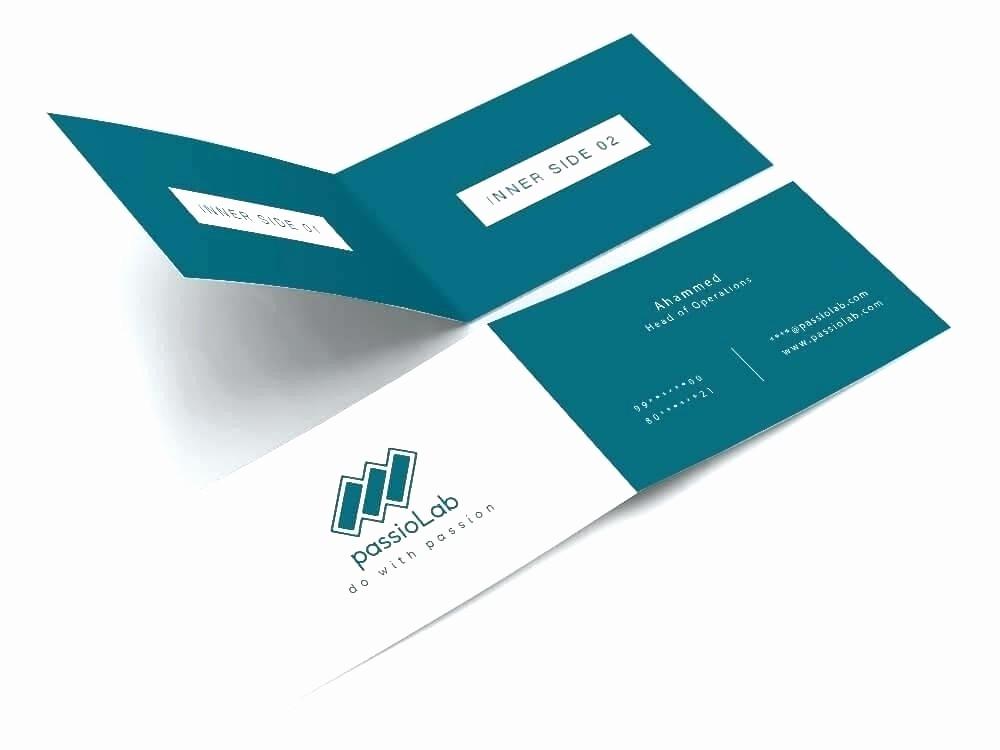 Bi-fold Card Template Elegant Bi Fold Business Card Template