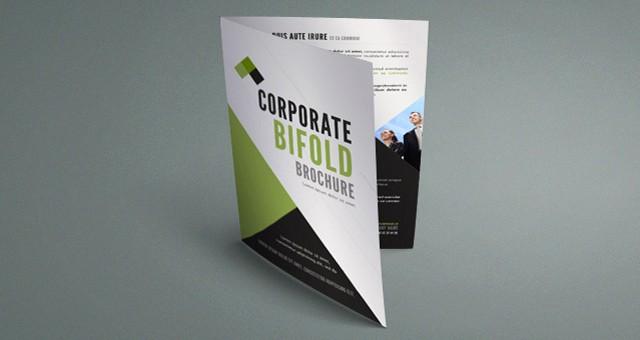 Bi-fold Card Template Lovely Corporate Bi Fold Brochure Template