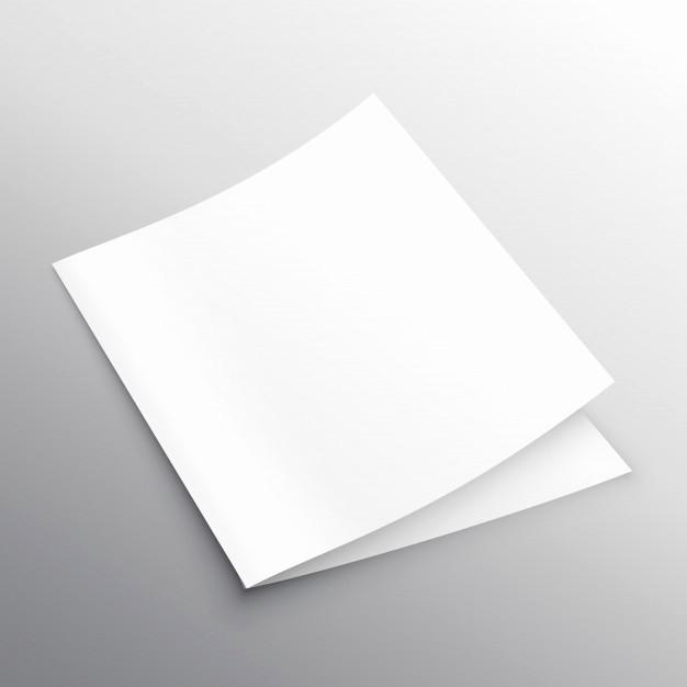 Bi-fold Card Template Luxury Blank Mockup Bi Fold or Book Template Design Vector