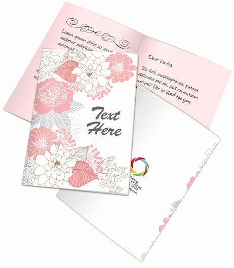 Bi-fold Card Template New Bi Fold A5 Greeting Card Mockup