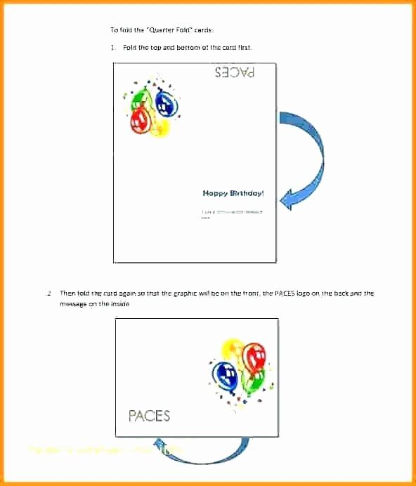Bi-fold Card Template New Bi Fold Greeting Card Template