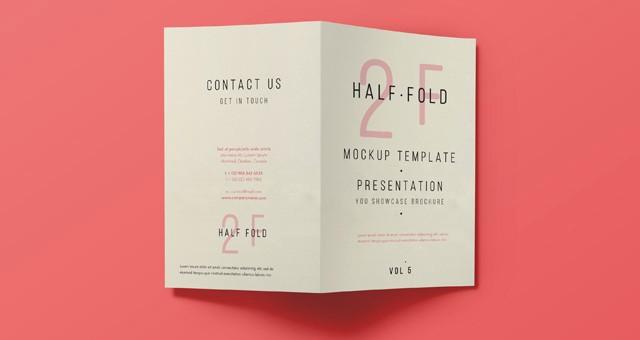 Bi-fold Card Template New Psd Bi Fold Mockup Template Vol5