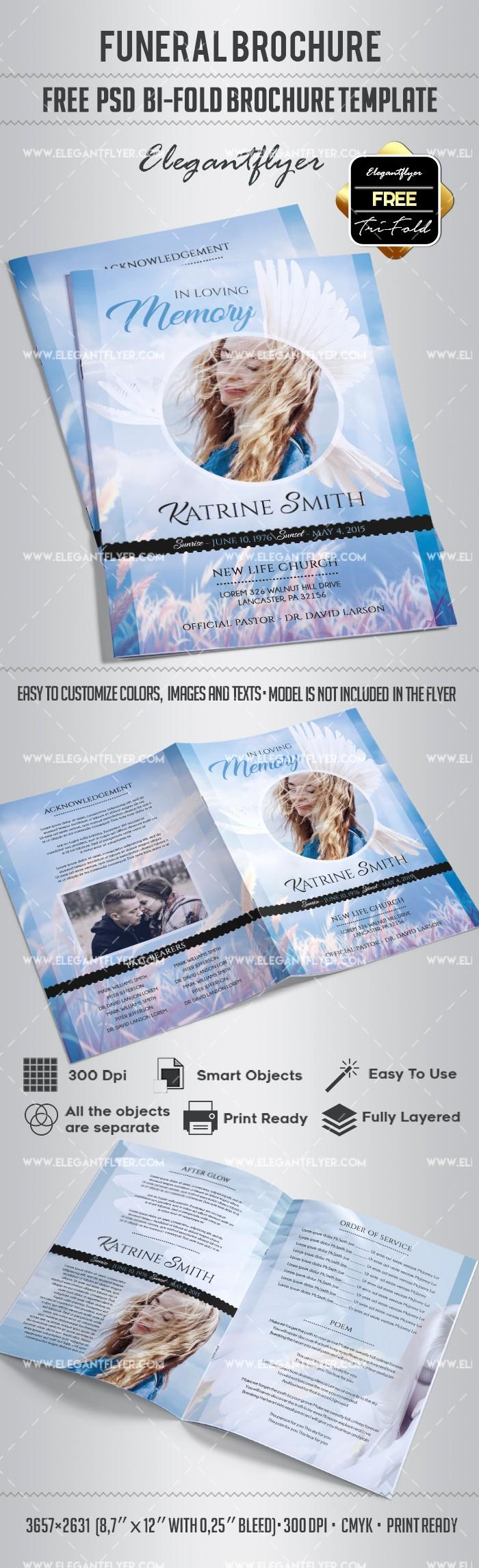 Bi-fold Card Template Unique Free Funeral Bi Fold Brochure – by Elegantflyer