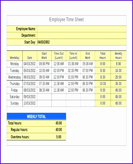 Bi Monthly Timesheet Template Excel Inspirational 8 Timesheet Excel Templates Exceltemplates Exceltemplates
