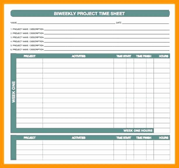 Bi Monthly Timesheet Template Excel Inspirational Monthly Templates Free Sample Example format Bi Timesheet