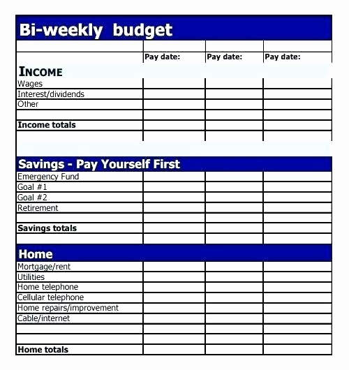 Bi Weekly Bill Pay Template Awesome Bi Weekly Bill Payment Spreadsheet Bi Weekly Family Bud
