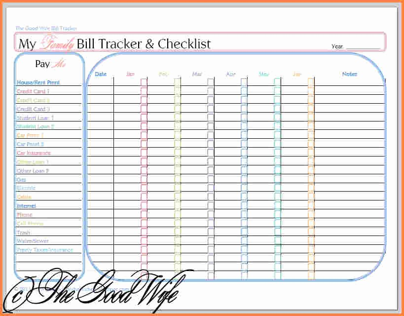 Bi Weekly Bill Pay Template Best Of 5 Bills Bud Spreadsheet